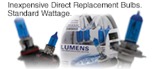 Direct replacement Ultra White Bulbs